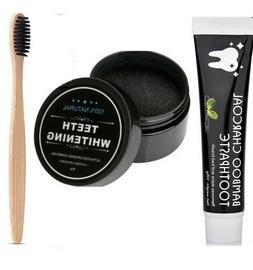 Activated Charcoal Teeth Whitening Carbon Powder +1 Toothpas