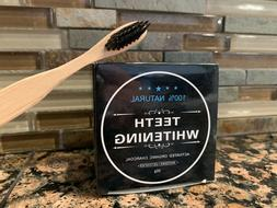 Activated Charcoal Teeth Whitening Organic Powder + Bamboo C