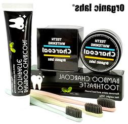 Activated Charcoal Teeth Whitening Bundle: Bamboo Charcoal T