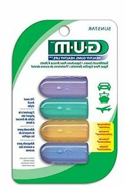 GUM Anti-Bacterial Toothbrush Covers  4 Covers per Pack, For
