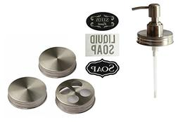 Premium Anti Rust Stainless Steel Mason Jar Soap Dispenser B
