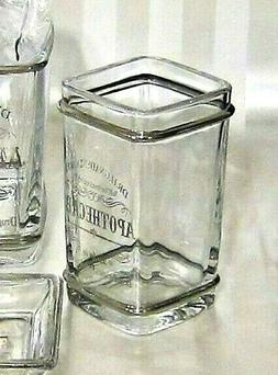 apothecary glass tumbler toothbrush holder dr gnadendorff