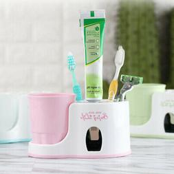 Auto Automatic Toothpaste Dispenser+ 5 Toothbrush Holder Set