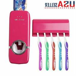 Auto Automatic Toothpaste Dispenser + 5 Toothbrush Holder Se