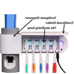 automatic toothpaste dispenser 5 toothbrush sterilizer holde