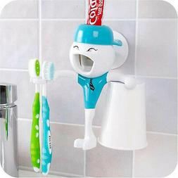 Automatic Toothpaste Dispenser Bathroom Toothbrush Holder &