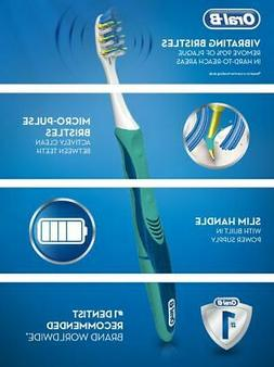 Oral-B Pulsar Soft Bristle Toothbrush Twin Pack