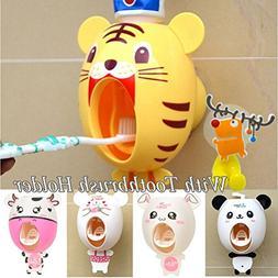 BigNoseDeer baby Toothbrush Dispensers ,kids Hands Free Toot