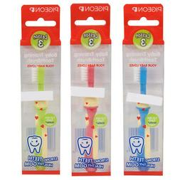 Pigeon Baby Training Toothbrush Lesson Step 3 For 12 Months