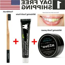 Natural Bamboo Charcoal Black Toothpaste Teeth Whitening Rem