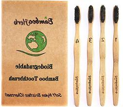 Natural Bamboo Charcoal Infused Toothbrush with BPA Free Nyl