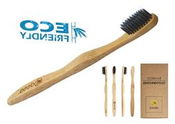 Bamboo Charcoal Toothbrush Soft Bristles for Adults | Eco-Fr