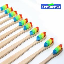 Bamboo Colorful Head Toothbrush Wholesale Environment Wooden