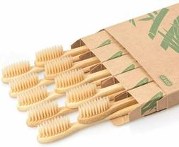 Bamboo Toothbrush 10 PCS Wooden Toothbrushes Organic Wood Na