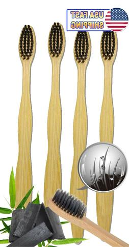 Bamboo Toothbrush 100% Natural Organic Medium Bristle BPA-Fr