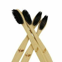 Bamboo Toothbrush 4 Pack 100% Natural Organic BPA-Free ECO F