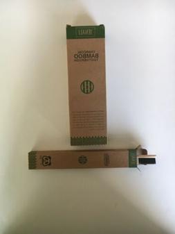 Bamboo Toothbrush 4 Pack Natural Organic Charcoal BPA-Free E
