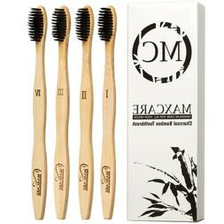 bamboo toothbrush charcoal activated soft bristle natural