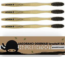 Bamboo Toothbrush with Charcoal Bristles - Save with Value 4