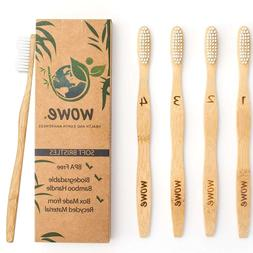 Natural Bamboo Toothbrush - Eco Friendly - BPA Free Bristles