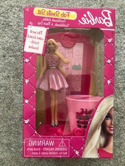Barbie Fab Smile Set~Toothbrush Holder~Brush & Rinse Cup~Gir