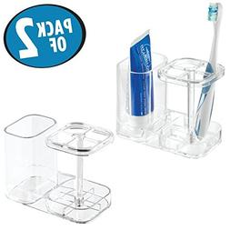 mDesign Bathroom Dental Holder and Organizer for Toothbrushe
