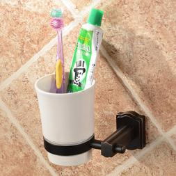 GUMA Bathroom One Cup Wall Mounting Brass Toothbrush and Too