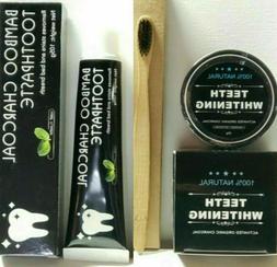 Black Diamond Charcoal Teeth Whitening Powder +1Toothpaste +