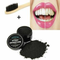 Activated Charcoal Teeth Whitening Powder + 1 Bamboo Toothbr