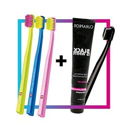 Curaprox Black is White Toothpaste Charcoal Whitening Set +
