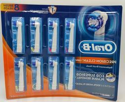 8 Braun Oral B Precision clean toothbrush heads Phillips Bru