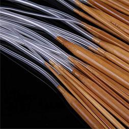 Carbon Bamboo - 18pcs 80cm White Tube Circular Carbonized Ba