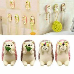 Cartoon Resin Animal Model Toothbrush Holder Wall Mounted Su