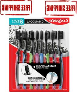 Colgate Charcoal Infused Floss-Tip Slim Soft Toothbrush - 8