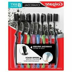 Colgate Charcoal Infused Floss-Tip Slim Soft Toothbrush