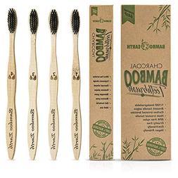Bamboo Charcoal Toothbrush - Natural Biodegradable And Organ