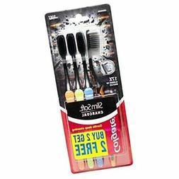 Charcoal Toothbrush Colgate Slim Soft Deep Gentle Clean 17x