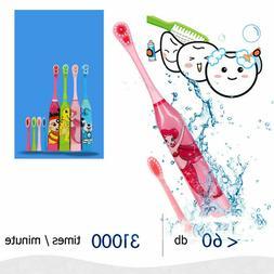 Children Auto Electric Cartoon Toothbrush Ultrasonic Waterpr