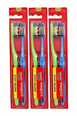 6 Count Colgate Classic Medium Multi Level Bristles Toothbru