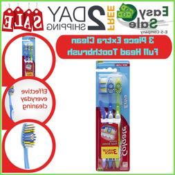 Ess Colgate Extra Clean Full Head Toothbrush Medium Circular