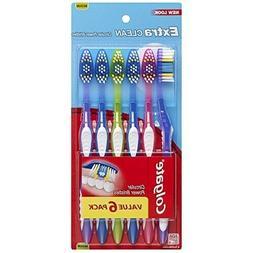 Colgate Extra Clean Full Head Toothbrush, Medium - 6 Count T