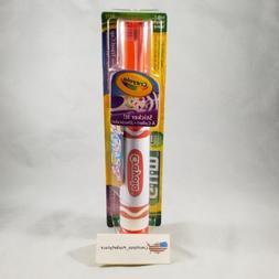 GUM Crayola Sticker It with Travel Cap Soft Power Toothbrush
