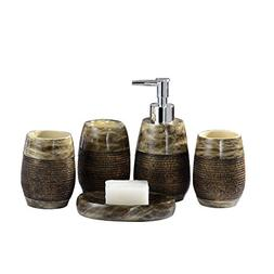 Creative Scents Bath Ensemble, Bathroom Accessory Set Resin