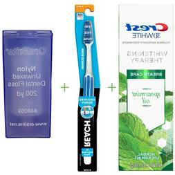 CREST Toothpaste + Reach Toothbrush  + OraBrite Dental Floss