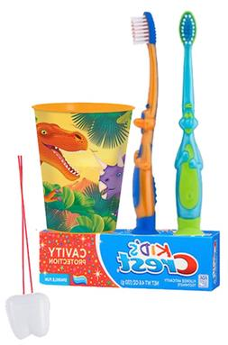 Dinosaurs Inspired 4pc. Bright Smile Oral Hygiene Set! Dino