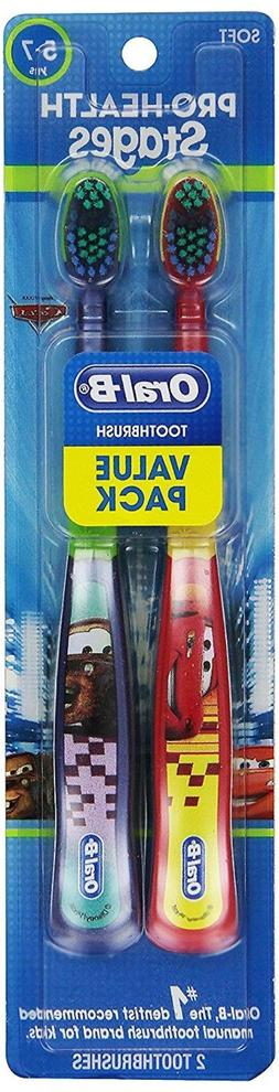 Disney Cars Oral-B Toothbrush Set of 2 Lightning McQueen + T