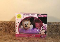 Disney Minnie Mouse Bathroom Smile Set Toothbrush Holder Cup