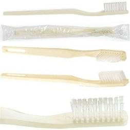 144 Disposable Toothbrushes Lot Individually Wrapped Soft Wh