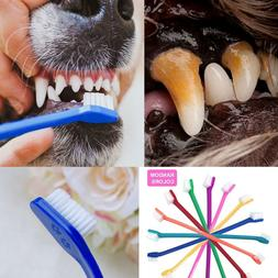 Dog Teeth Cleaning Toothbrush Soft 2 Head For Small Medium L