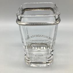 dr h gnadendorff apothecary glass toothbrush holder